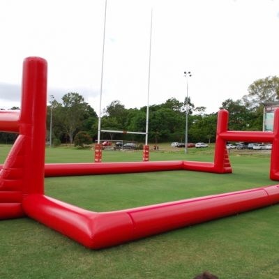 hire inflatable rugby pitch