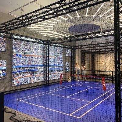 portable tennis court